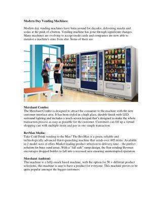 Modern Day Vending Machines