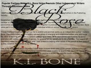 Popular Fantasy Writer K.L. Bone Joins the Dauntless Indies