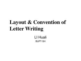 LI Huali BUPT-SH