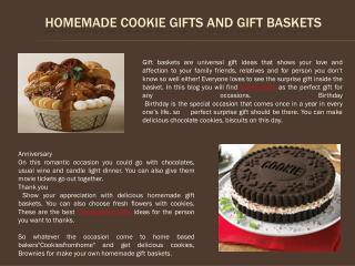 Homemade Cookie Gifts and Gift Baskets