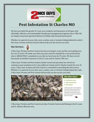 Pest Infestation St Charles MO