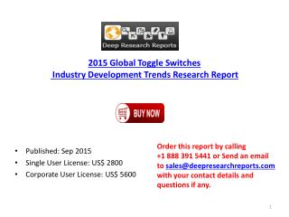 2015 Global Toggle Switches Market Project SWOT Analysis Report