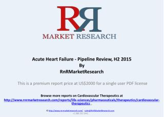 Acute Heart Failure Pipeline Review and Market Analysis, H2 2015