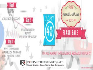Ken Research announces the Flash Sale discount of flat 40% on Research Reports