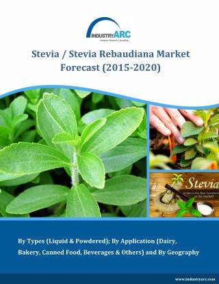 Stevia Rebaudiana Market