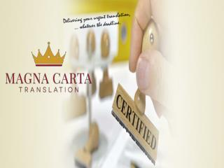 Magna Carta Translation service