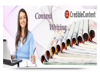 Credible Content - High Quality Content Writing Services
