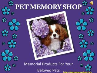 Buy Unique Pet Memorial Jewelry From Pet Memory Shop