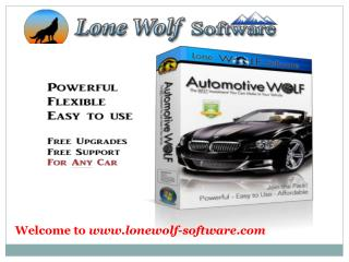 Automotive Wolf car care software at Lone Wolf Software