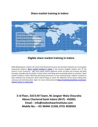 eligible share market training in indore