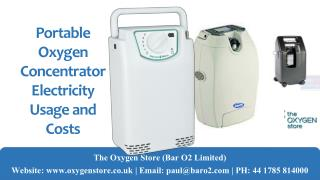 Portable Oxygen Concentrator Electricity Usage and Costs