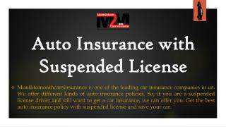 Get Car Insurance With Suspended License With Most Affordable Schemes Online