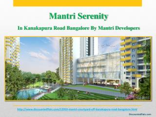 Mantri Serenity a New launch project by Mantri Developers