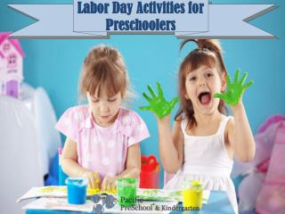 Labor Day Activities for Preschoolers