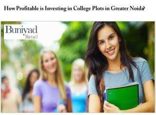 College Plots for sale in Greater Noida