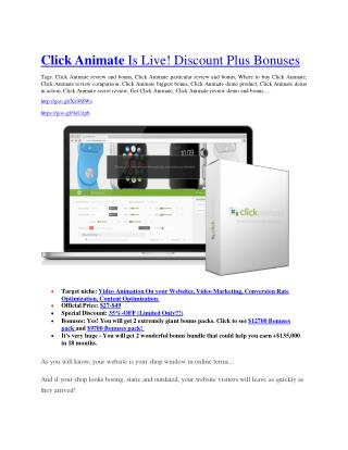 Click Animate review and (SECRET) $13600 bonus