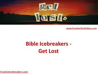 Bible Icebreakers - Get Lost