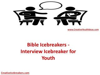Bible Icebreakers - Interview Icebreaker for Youth