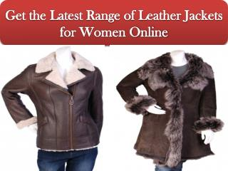 Get the Latest Range of Leather Jackets for Women Online