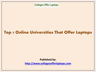 Top 5 Online Universities That Offer Laptops