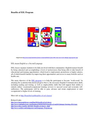 The Benefits of English as Secondary Language Program