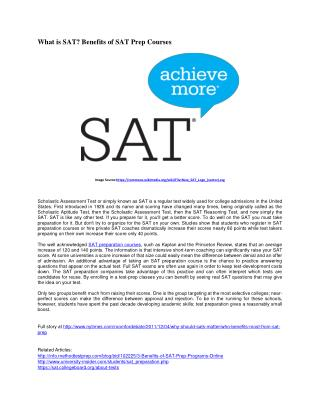 The Definition and Benefits of SAT