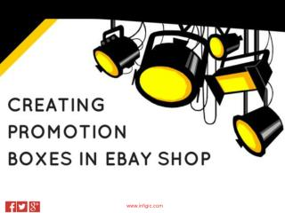 How to create promotion boxes in eBay shop