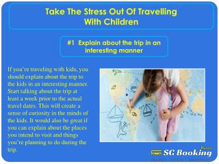 Take the stress out of travelling with children