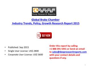 Global Brake Chamber Market Production Gross Margin Research