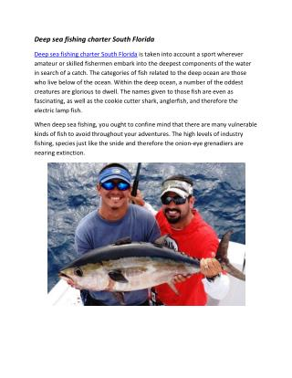 deep sea fishing charter Miami