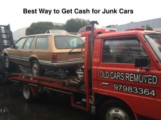 Old Cars Removed