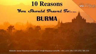 10 reasons you should travel to burma