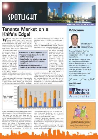 Tenants Market on a Knife's Edge!