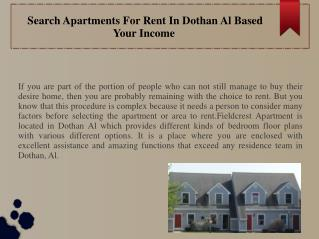 Search Apartments For Rent In Dothan Al Based Your Income