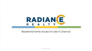 Residential family houses for sale in Chennai