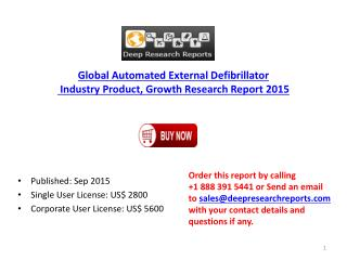 2015 Global Automated External Defibrillator Industry Trends, Product Research