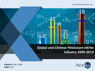 Global and Chinese Potassium nitrite  Market Size, Share, Trends, Analysis, Growth  2009-2019
