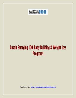Body Building & Weight Loss Programs