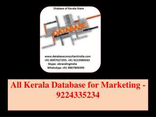 All Kerala Database for Marketing -9224335234