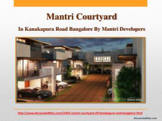 Flats in Mantri Courtyard at Kanakapura Road, Bangalore available for sale