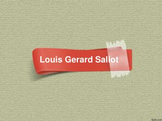 CEO of EAM Group | Louis Gerard Saliot | Gerard Saliot
