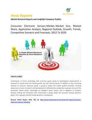 Consumer Electronic Sensors Market, Market Size, Market Share, Application Analysis, Regional Outlook, Growth, Trends, C