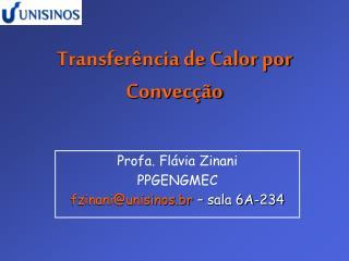 Transfer ncia de Calor por Convec  o