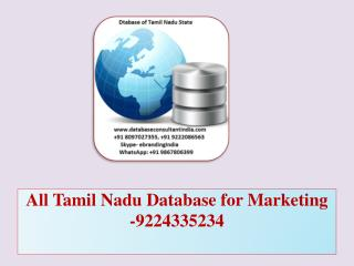 All Tamil Nadu Database for Marketing -9224335234