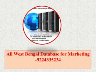 All West Bengal Database for Marketing -9224335234