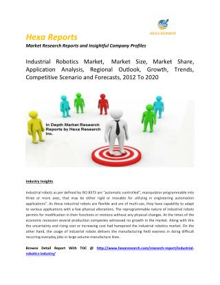 Industrial Robotics Market Size, Market Share, Application Analysis, Regional Outlook, Growth, Trends, Competitive Scena