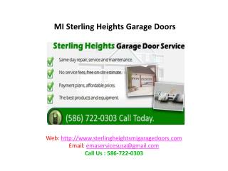 MI Sterling Heights Garage Doors