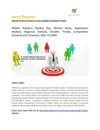 Mobile Robotics Market Size, Market Share, Application Analysis, Regional Outlook, Growth, Trends, Competitive Scenario