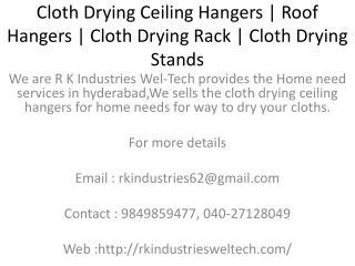 Cloth Drying Ceiling Hangers | Roof Hangers | Cloth Drying Rack | Pulley Ceiling Hangers | Balcony Ceiling Hangers