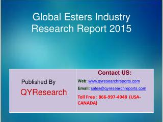 Global Esters Market 2015 Industry Growth, Overview, Demands, Trends, Share, Research and Analysis